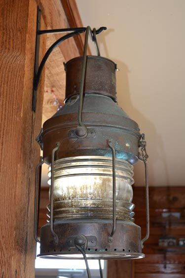 Owens' Restaurant lantern historic artifact
